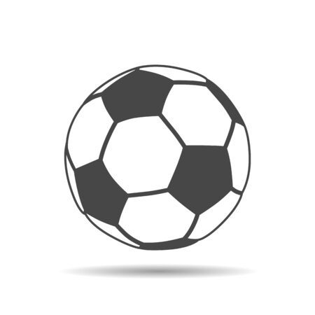 Illustration pour soccer ball icon with shadow on a white background - image libre de droit