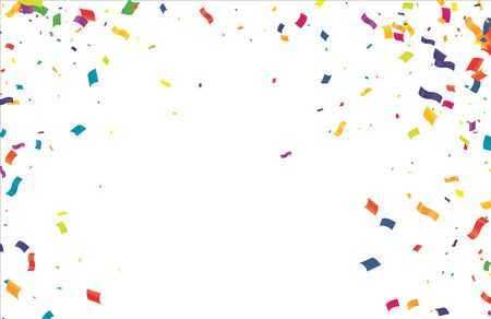 Illustration for Colorful Confetti On Transparent Background. Celebration & Party. Vector  - Royalty Free Image