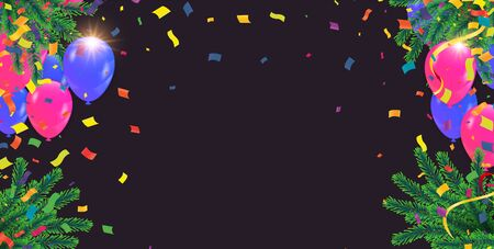 Illustration pour Abstract Background with Shining Colorful Balloons. Birthday, Party, Presentation, Sale , new year - image libre de droit