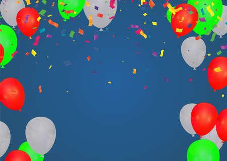 Illustration pour Celebration party banner with Gold balloons background. Vector illustration. - image libre de droit