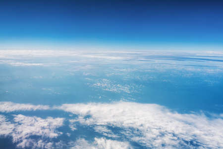 Photo for A panoramic top view of daylight and over all clouds under the blue sky, Sky clouds and city banner, wallpaper concept. High quality photo - Royalty Free Image