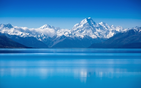 Foto de Lake Pukaki, South Island, New Zealand - Imagen libre de derechos