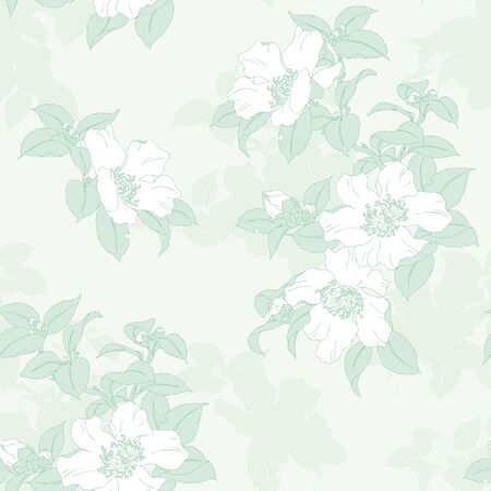 Modern fabric design pattern. Floral pattern for your design. Vector illustration. Wrapping paper, graphic design and textile. Background.のイラスト素材