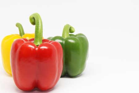 Foto für bell pepper on white background - Lizenzfreies Bild