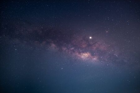 Photo for night sky with milky way galaxy - Royalty Free Image