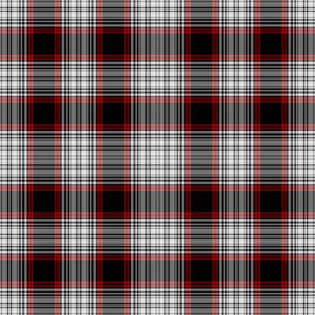 Seamless Red, White,   Black Plaid
