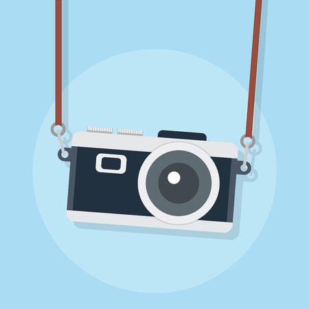 Illustration for flat icons for camera,vector illustrations - Royalty Free Image