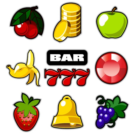 Various slot fruit machine icons
