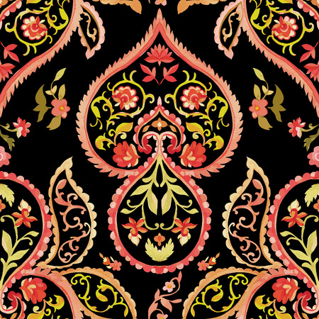 Watercolor Paisley Pattern