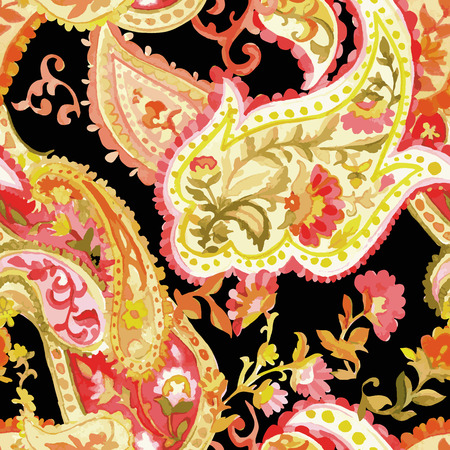 Watercolor Paisley Pattern II