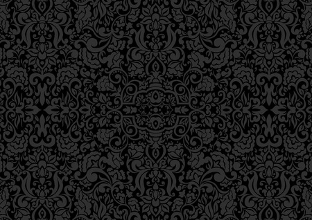 Illustration for Vintage background, antique ornament, baroque old paper, backdrop for greeting card or ornate cover page. Floral luxury ornamental pattern template for design - Royalty Free Image