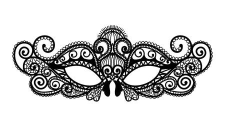 Illustration pour Mardi Gras mask of lace collection set. - image libre de droit