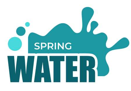 Illustration pour Spring water liquid splash and drops isolated icon - image libre de droit