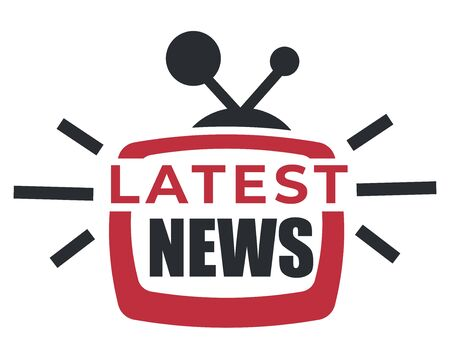 Illustration pour Daily update, latest news isolated icon, breaking report - image libre de droit