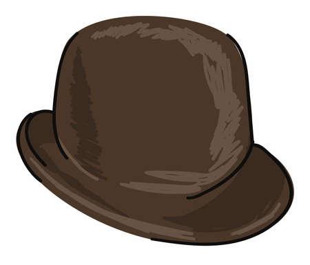 Illustration for Headwear for men, black vintage retro hat for boys - Royalty Free Image