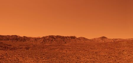Photo for Desert mars mountains with a striking red colour. High resolution image - Royalty Free Image
