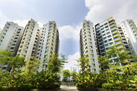 Foto de New Singapore government appartments - Imagen libre de derechos