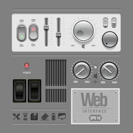 Web UI Elements Design Gray