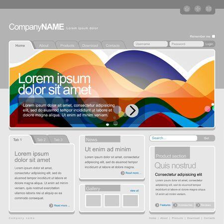 Gray Website Template 960 Grid