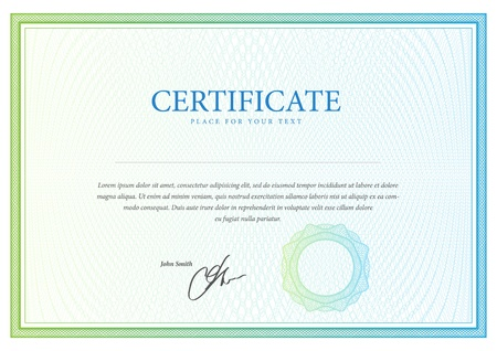 Certificate  Vector pattern for currency, diplomas
