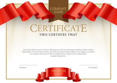 Illustration pour Modern Certificate. Template diplomas, currency. Vector - image libre de droit