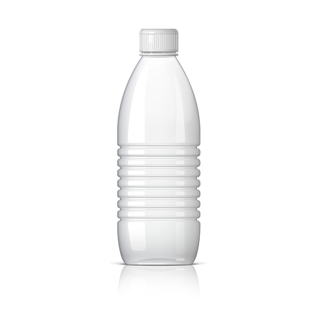 Realistic plastic bottle for water. Vector illustration