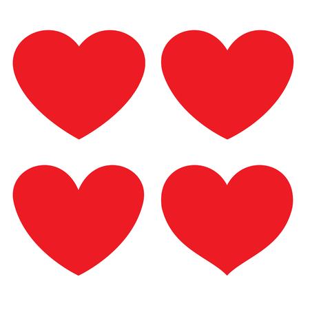 Photo pour Red heart flat icon. different shapes. Vector illustration - image libre de droit