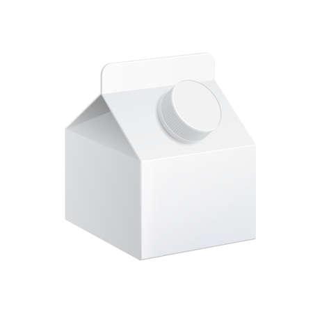 Illustration pour Realistic carton of milk. - image libre de droit