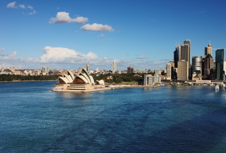 A Skyline View of Sydney showing the Sydney Opera House and skyscrapers