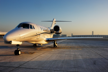 The beautiful sculptural shape of a citation, the private jet a regular sight at Dubai International Airport