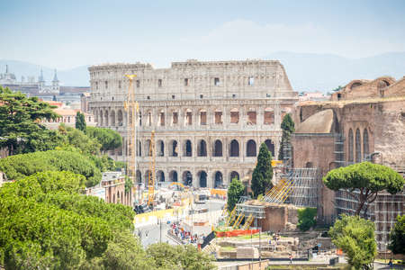 Colosseum and Roman Forum, Rome, Italy, Europe