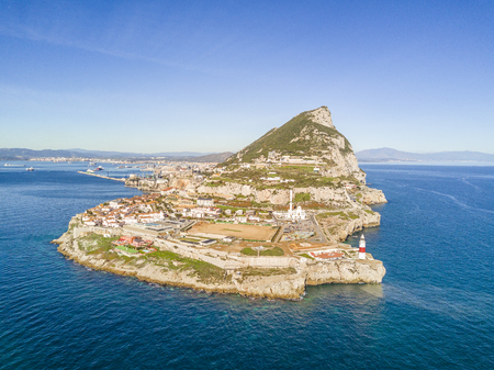 Famous Gibraltar rock on overseas british territory, Gibraltar, Iberian Peninsula, Europe