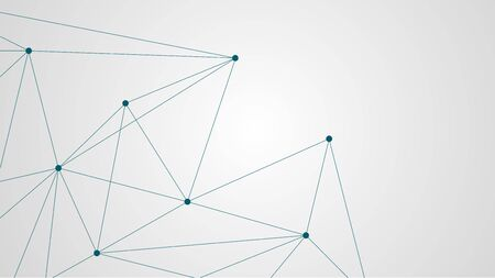 Illustration pour Abstract geometric connect lines and dots.Simple technology graphic background.Illustration Vector design Network and Connection concept. - image libre de droit
