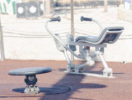 Sports equipment on the beach sports ground