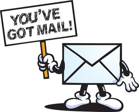 Illustration pour You've Got Mail - image libre de droit
