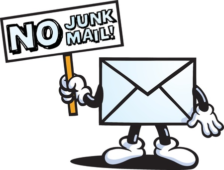Illustration for Junk Mail Guy - Royalty Free Image