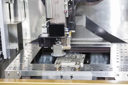 CNC wire cut machine cutting high precision mold parts
