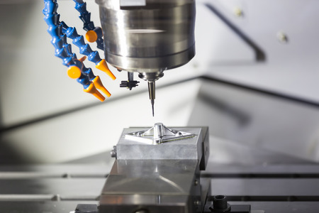 machining precision part by CNC machining center