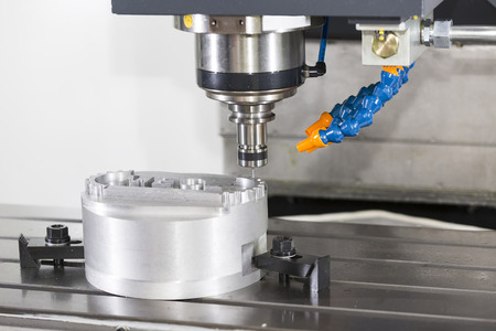 CNC machining center cutting mold by endmill cad cam
