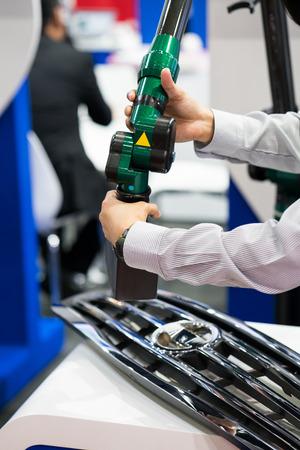 inspection automotive part dimension by 3D scan measuring machine
