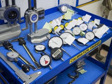 Calibration high gauge, dial gauge, vernier, digital, depth gauge. Laburatory for calibration high precision tool.
