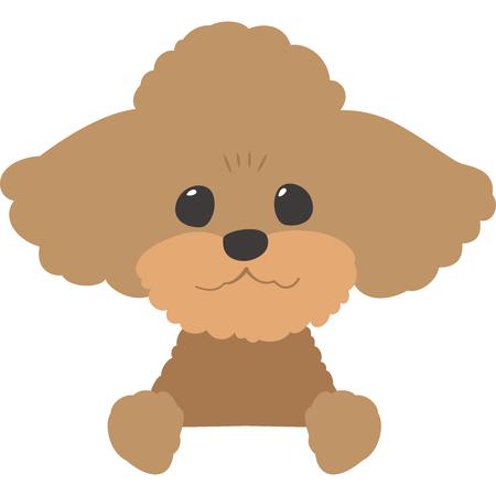 Ilustración de Dogs ran Apple bottoms face (toy poodle) - Imagen libre de derechos