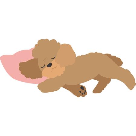 Ilustración de Sleeping dogs (toy poodle) - Imagen libre de derechos