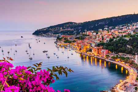 Photo for Villefranche sur Mer, France. Seaside town on the French Riviera (or Côte d'Azur). - Royalty Free Image