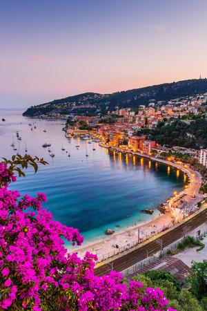 Photo pour Villefranche sur Mer, France. Seaside town on the French Riviera (or Côte d'Azur). - image libre de droit