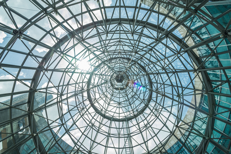 Photo for interior of metal roof structure of modern building - Royalty Free Image