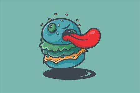 Illustration pour burgerkill vector illustration, - image libre de droit
