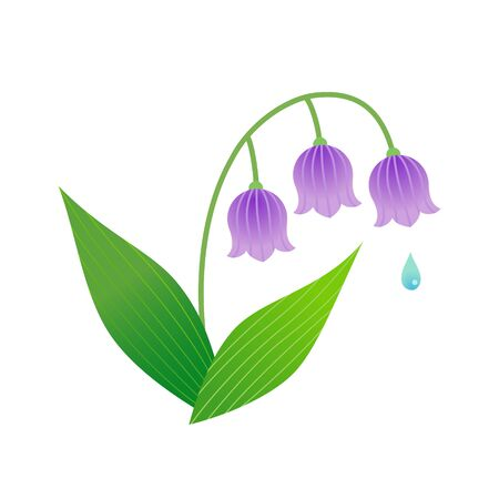 Illustration pour Lily of the valley isolated on white background - image libre de droit