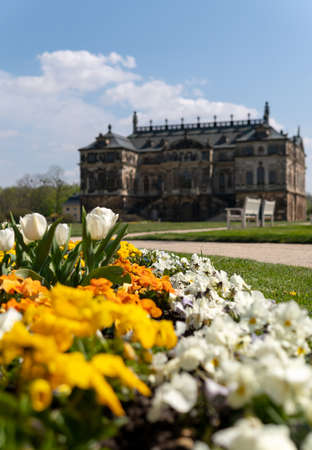 Spring vibes in Dresden, Palais big garden, saxony, germany