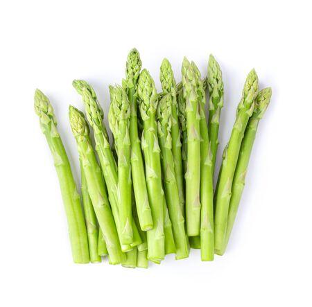 Foto für fresh asparagus isolated on white background. top view - Lizenzfreies Bild